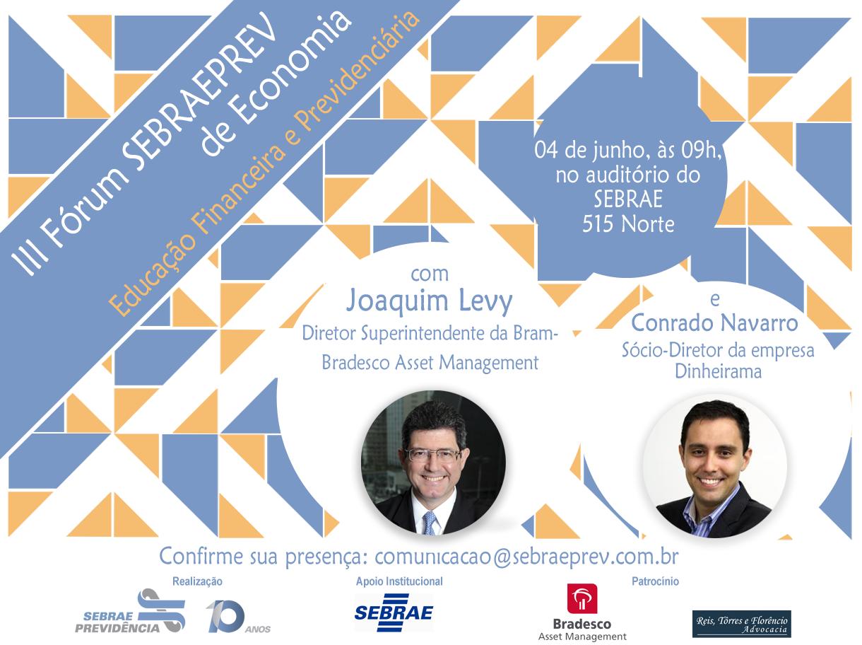 convite III Fórum SEBRAEPREV de Economia